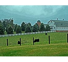 Country Painted Scene Photographic Print