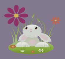 Little Green Baby Bunny With Flowers Kids Clothes