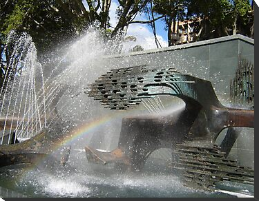 Newcastle (NSW) - Civic Fountain Rainbow by KazM