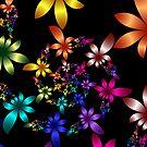 Spiraling Spring flowers by LjMaxx