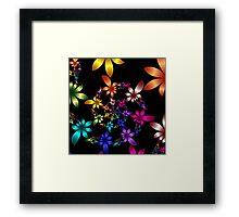 Spiraling Spring flowers Framed Print