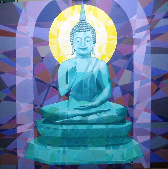 Prismatic Buddha -Spirituality, Peace and Serenity by Joseph Barbara
