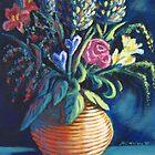 Still life, Spring Flowers by Mai Kari  Hartvaag Zimbleman
