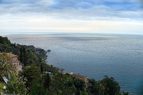 Panoramic view from Taormina, Sicily by Andrea Rapisarda