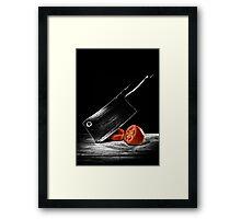 Butcher Knife & the Tomato Framed Print