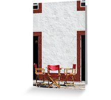 Folding chairs Greeting Card