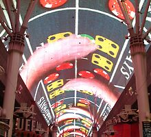 Fremont Street by Night by veda