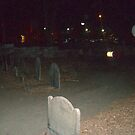 Large Colorful Orb at the Cemetery Salem MA by Rebecca Bryson