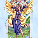 Art Nouveau Summer Time Fairy  by cybercat