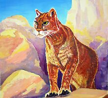 Cougar on the Rocks by Chris King