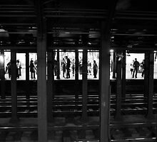 A Meeting New york Subway sect  fine art photograph NYC by LJAphotography