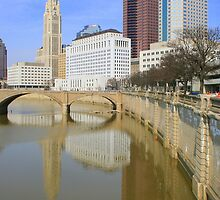 Columbus Skyline from Town Street Bridge by Laurel Talabere