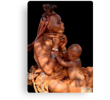 HIMBA MOTHER AND CHILD 3 Canvas Print