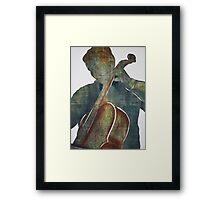 Printmaking: Cellist Framed Print