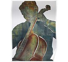 Printmaking: Cellist Poster