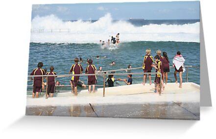 King Tide at Newcastle Baths by smithrankenART