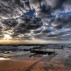 Avalon Rockpool Sunrise - Sydney, Australia. by Leigh Nelson