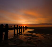 blyth beach at dawn by peter arris