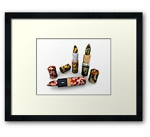 Camouflage lipsticks Framed Print