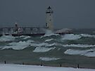 Manistee Pier Port Light House by Shelly Harris