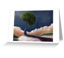 Tree Over the BIg Black Greeting Card