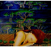 Nature Sleeping - Oil Painting Photographic Print