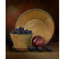 Blackberries And A Plum Photographic Print