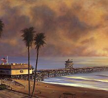 """ San Clemente Pier at Sunset "" by Mark Van Dam"