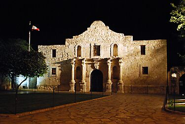 The Alamo at Night by Gregory Ballos | gregoryballosphoto.com