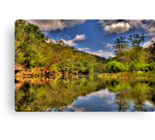 Let Us Reflect - Hacking River - Royal National Park - The HDR Experience Canvas Print