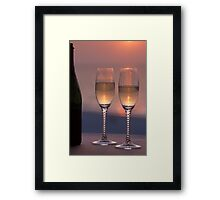 Champange at Sunset Framed Print