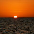 sunset... 1/2 half by Linda Bianic