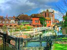 Kennet and Avon Canal and The Lock Stock and Barrel Pub - Newbury by Colin J Williams Photography