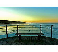Saltburn Pier at Sunset. Photographic Print