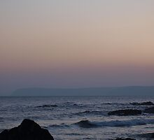 Hemmick Beach at Sunset by pisk