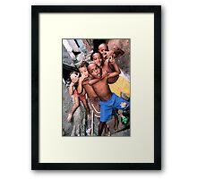 Rocinha Favela Kids, Rio De Janeiro, Brazil 2009 Framed Print