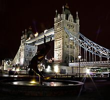 Tower Bridge Fountain by Richard Leeson