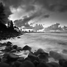 Burleigh Heads Sunset (B&W + Tilt Shift) by Matthew Stewart