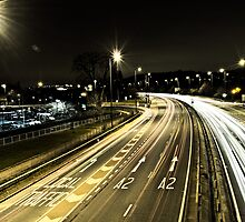 A2 at Night in Bexley by gillbanks1984