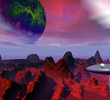 Hoverball on the red planet by retepk