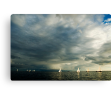 Sailing boats Canvas Print