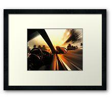 Speed... Framed Print