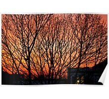 Greenwich Sunset Poster