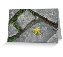 Maple marked Greeting Card