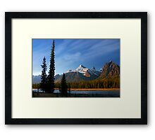 Icefields Parkway National Park, Lodgepole Pine and river, Alberta, Canada. Framed Print