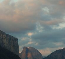half dome at sunset by karen peacock