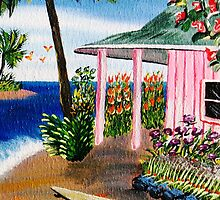 Pink Beach Cottage #7 by WhiteDove Studio kj gordon