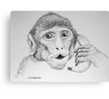 """Monkey on """"Phone"""" Canvas Print"""