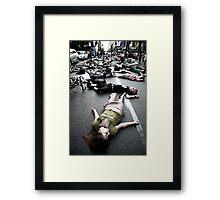 montreal die-in Framed Print