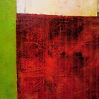Red and Green Abstract by Michelle Calkins